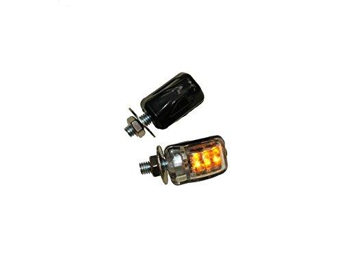 LED Mini Blinker M6, klein schwarz klar E-geprüft für Simson KTM Triumph Peugeot Honda Yamaha Suzuki