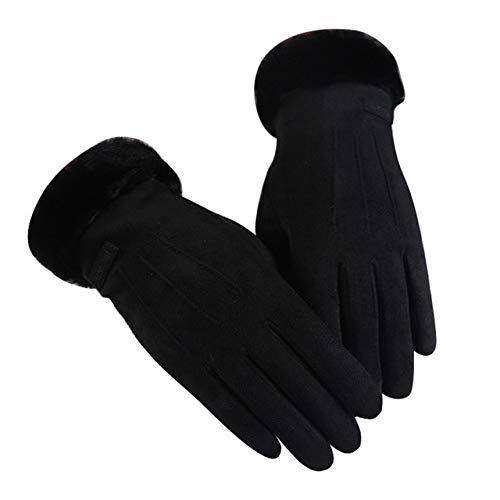 IAMZHL Frauenhandschuhe halten warm Touchscreen-Handschuhe mit vollem Finger Winddichte Winterhandschuhe Fäustlinge Outdoor-Radhandschuh -a53-b2