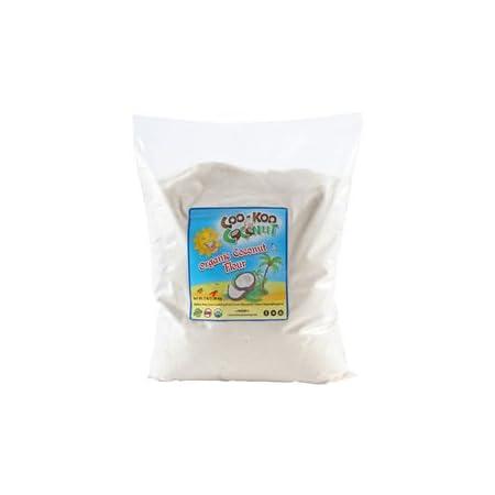 Coconut Flour Organic, 3 lb w/ E Book, Gluten-Free, Raw, Keto, Paleo Friendly