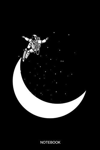 Notebook: Liniertes Notizbuch A5 - Astronaut Skateboard Halfpipe Mond Weltraum Skater Notizbuch I Geschenk für Weltraumfahrer, Astronauten und Kinder