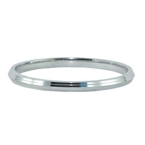 CReha Stainless Steel Big Heavy Round Gold Plated Silver Sardar Punjabi Sikh Kada Bracelets for Men and Women.