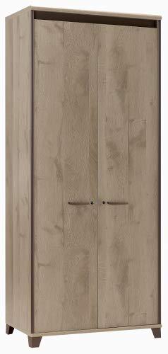 Armoire 2 Portes Gautier de la Collection Mambo Couleur Chêne Sonoma