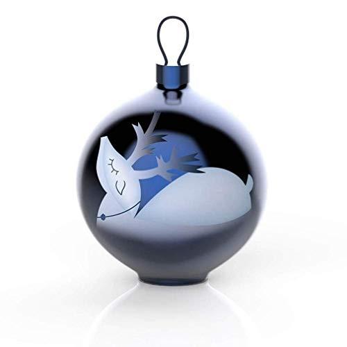 Alessi AAA07 3 Blue Christmas Weihnachtsschmuck - mundgeblasenes Glas, blau.
