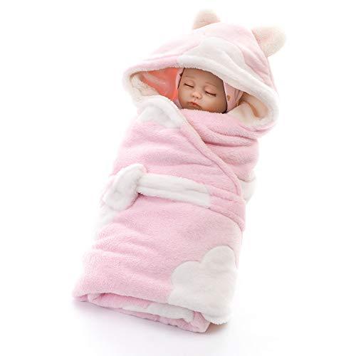 Manta de envoltura para bebé de invierno, de terciopelo, coral, para recién nacido, nacido, nacimiento, nacimiento, unisex, saco de dormir suave cálido para camas cochecitos