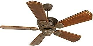 Craftmade K10874 Downrod Mount, 5 Ophelia Walnut/Vintage Madera Blades Ceiling fan, Aged Bronze Textured