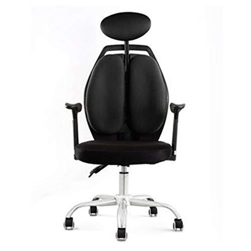 Gamingstoel BLTLYX Draaistoel Racing Lift Synthetische gamingstoelen Internetcafés Computerstoel Liggend Huishoudelijke stoel Zoals afgebeeld 5 Zwart