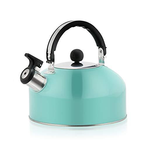 Electric oven Hervidor de té de Acero Inoxidable de Grado alimenticio 3L, hervidor de silbido con Mango ergonómico Resistente al Calor, Jalea Azul (Color : Jelly Blue, tamaño : 3L)