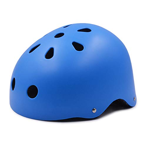 CPSTM Outdoor Skateboard Helm Multi-Sport Helm Kopf Verstellbare Belüftung Leichtes, herausnehmbares Futter Multi-Impact Street für MTB Micro Scooter Bike Motorrad Kinderhelm (4,L)