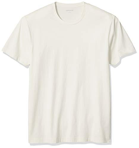 Amazon Brand - Goodthreads Men's Slim-Fit 'The Perfect Crewneck T-Shirt' Short-Sleeve, Vintage White Large