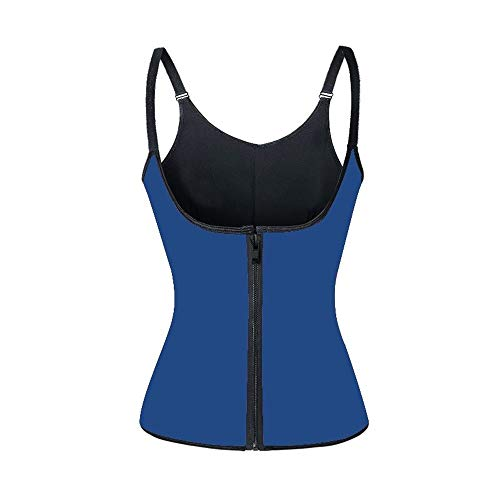 Protective Gear Shapers sauna Sweat Vest taille Trainer Cincher Vrouwen lichaam vermagering Trimmer Corset Workout Thermo Push Up Trainer JFCUICAN (Color : Blue, Size : XXL)