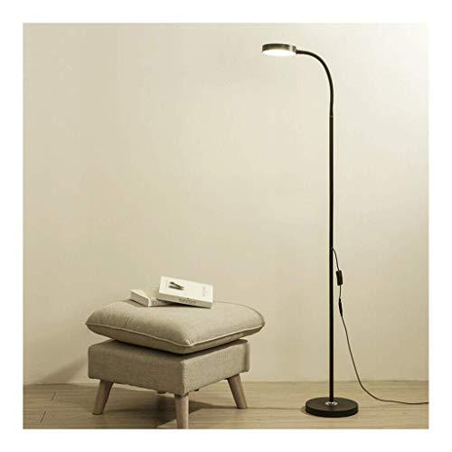 NINGXUE-MAOY Protection LED Lampadaire Moderne Eye Salon Chambre Study Piano Lampe de Lecture Noire(lumière Blanche)(Couleur:Noir) Para dormitorio/oficina/dormitorio (Color : Black)