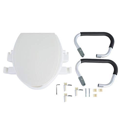 Sedile WC rialzato, Sedile WC rialzato, Rimovibile Bianco Solido per Coloro Che richiedono Una Maggiore Altezza del Sedile Donne Incinte