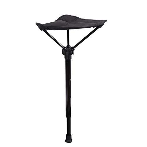 Klappbarer Einzelbein-Hocker, Outdoor-Teleskop-Klapphocker,Verstellbarer einbeiniger Stuhl, tragbarer Hochstuhl, robust, für Outdoor-Aktivitäten, Camping, Wandern, Angeln