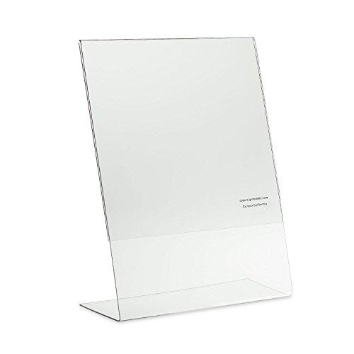 Source One 8.5 X 11-Inches Acrylic Slant Back Sign Holder, Brochure Holder, Pack of 6