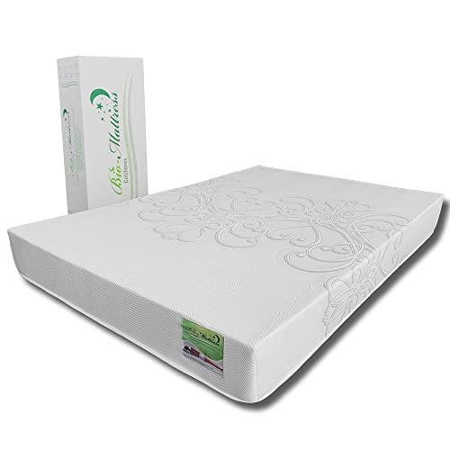 Colchón Memory Foam Bio Mattress | Modelo Royale Queen Size | Espumas con certificación CertiPur para Máximo Confort | Entrega en caja con 5 Años de Garantía