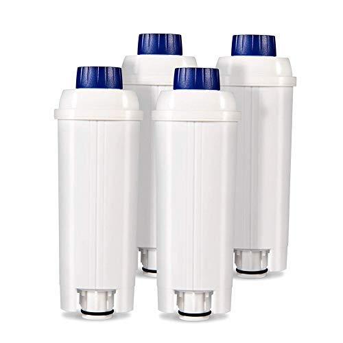 Wasserfilter für Delongie Kaffeemaschinen DLSC002 Kaffeefilter mit Aktivkohleenthärter Kompatibel Delongie Kaffeemaschinen ECAM ETAM BCO EC 4er Pack
