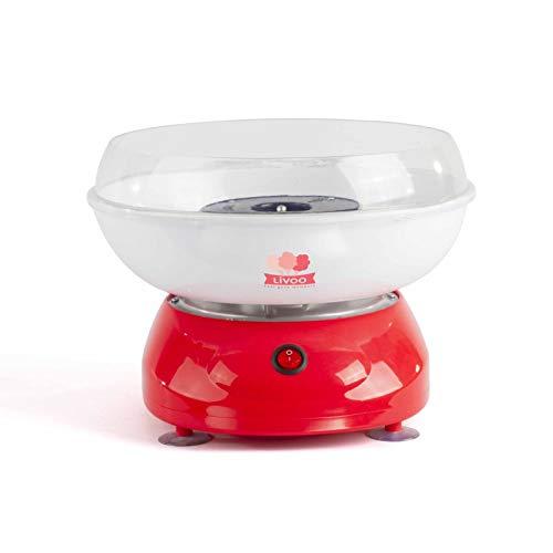 Zuckerwattemaschine für Zuhause Kindergeburtstag 500 Watt (Zuckerwatte Schale, 27 cm, Spritzschutz, Zuckerwattegerät, inkl. Messlöffel und Holzstäbchen)