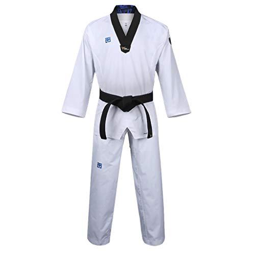Mooto Korea Taekwondo Extera S6 Uniforme con Cuello En V Blanco para competición Dobok TKD Artes Marciales MMA Judo Karate Hapkido (170 (Height : 170~179cm)(5.58~5.87ft))