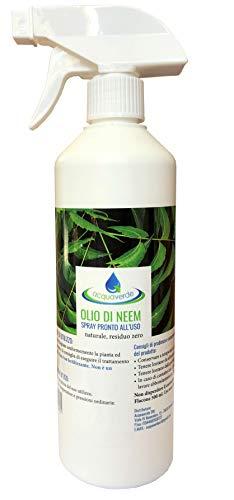 acquaverde Olio di Neem Insetticida Antiparassitario 100% Naturale Disinfettante Bio Orto Giardino Anti Zanzare Afidi Cimici Insetti Fastidiosi Ecologico Repellente Nocivi
