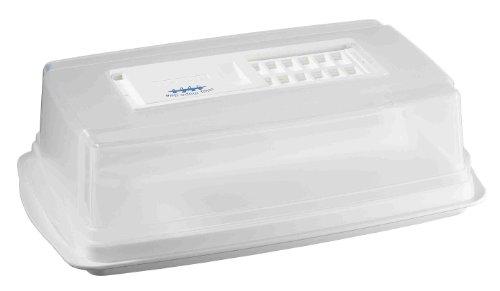 - Une membrane micro-poreuse située sur le couvercle transparent permet de réguler l'humidité