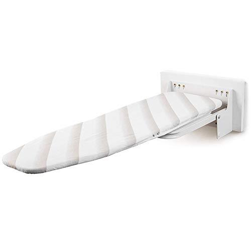 uyoyous Bügeltisch Wandmontage Klappbar ist Höhenverstellbar, Bügelbretter ideal für Dampfbügeleisen, Dampfbügeltisch für Beste Bügelergebnisse Brett mit Beschlägen - Weiß(A)