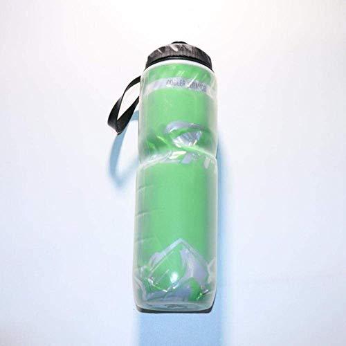 Botella de agua portátil aislada al aire libre para bicicleta, bicicleta, ciclismo, deporte, taza de agua, botella reciclable de 24 onzas (710 ml), 3 kshu (color: 3)