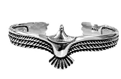 XCOVIE Brazalete de águila de Plata, Brazalete de Brazalete Estilo Punk Rock Vintage, Brazalete Ajustable de Extremo Abierto. (Silver)
