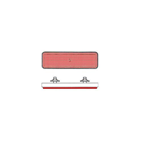 Riflettore quadrato posteriore rosso