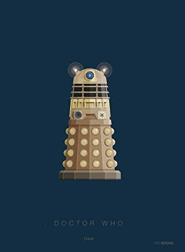 Memory Box Fred Birchal Kunstdruck, Motiv Doctor Who Dalek Kostüm, gedruckt auf 300 g/m² Papier, mit Rahmen, ohne Passepartout