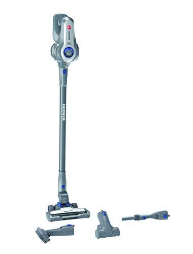 Hoover 700 HF722PTLG, H Free, HF 722 PTLG, 3-vaks accessoires inbegrepen (incl. dierenharenborstel), tot 35 minuten looptijd, Deep Shiny Grey met anodise-beschermlaag/capri Bl