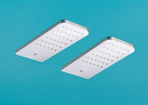 Flip Lot de 2 LED avec interrupteur tactile LED et variateur/Inox/Réglette/Lumica Light/4000 K blanc chaud/7061091
