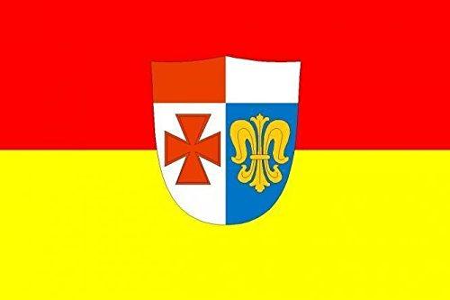 U24 Fahne Flagge Landkreis Augsburg Bootsflagge Premiumqualität 30 x 45 cm