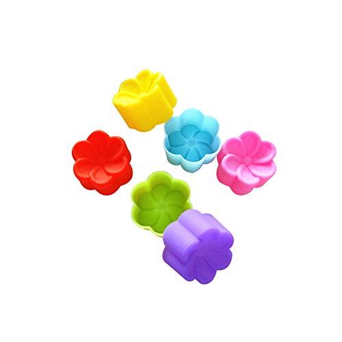 yuiy 3CM plumeria silicone mold, jelly pudding, random color mold