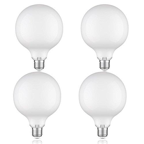ledscom.de E27 LED Globe Birne Filament extra matt G125 2W =23W warmweiß (2700K) 220lm A++ für innen und außen, 4 Stk.