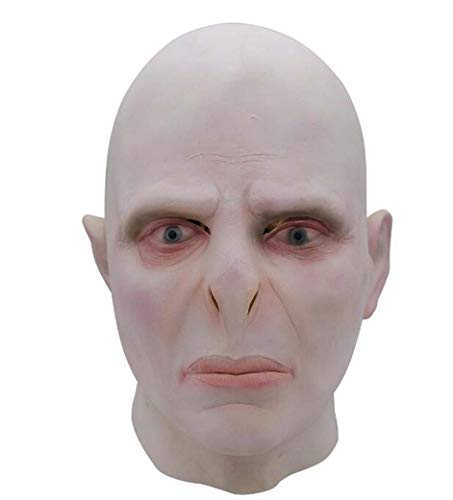 ZTYD Halloween Voldemort Mask Headgear Headgear Costume Horror Cosplay Big Boss Voldemort Mask Headgear Party Supplies Accesorios de Disfraces para Adultos