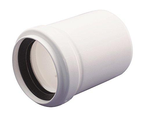 Sanitop-Wingenroth 25187 7 7 afvoerpijp 40-50 mm, HT Sifon 1 1/2 inch, rubberen klep voor afvoerbuis, installatiesysteem, zwart 40 x 32 mm wit