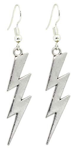 Bluebubble LUCKY LIGHTNING Silver Flash Bolt Earrings Gift Boxed
