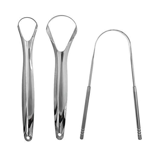 Healifty Zungenschaber Zungenreiniger Praktisches Zahnreinigungsset für Die Mundpflege 3St