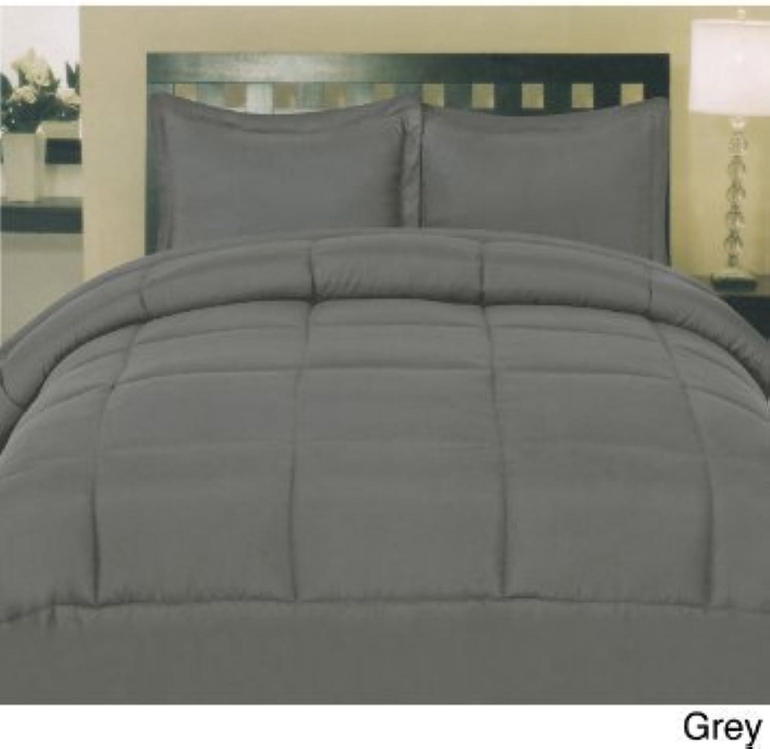 Dreamz Parure de lit Super Doux 650Fils 100% Coton 1Housse de Couette (100g m2 Fibre Fill) Euro Petite Taille Unique, éléphant gris gris foncé Solide Coton égypcravaten 650tc Doudou