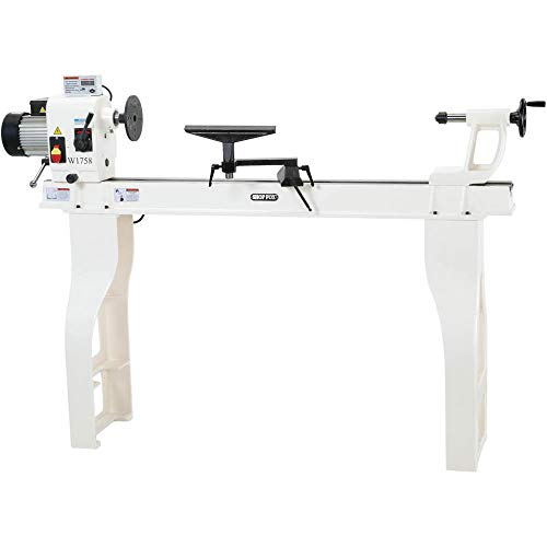 Shop Fox W1758 Wood Lathe With Cast Iron Legs And Digital Readout