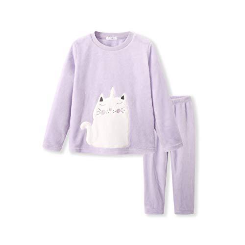 Kinderpyjama, herfst en winter flanel warm plus fluwelen cartoon grote kinderen Thuis Service pak