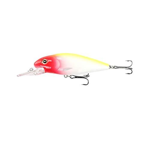 CQHUI 1 unids/Pesca de mar Calamares de Agua Fresca Lifelike Bait10CM / 12G Cranquista Artificial Fish Lure Wobbler Gank Glob Movery Fishing Gear (Color : 7, Size : 10cm 12g)