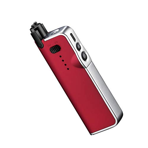 ANIMOR Adjustable Candle Lighter, Electric Flameless Lighter, USB Recharge Arc Lighter, with LED Battery, Portable Windproof, with Adjustable Neck for Camping Cooking BBQs Fireworks (Red)