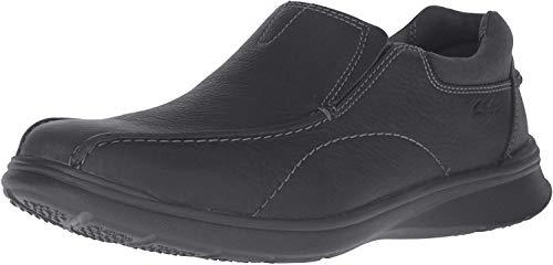 Clarks Men's Cotrell Step Slip-on Loafer,Black Oily,9 W US