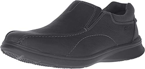 Black Leather Slip on Shoes for Men