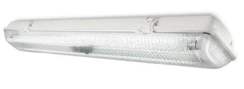 Steinel Innenleuchte FRS 30, 360° Bewegungsmelder, inkl. 2 x G13 Leuchtstoffröhre, Schlagfest, IP65, Keller und Garage