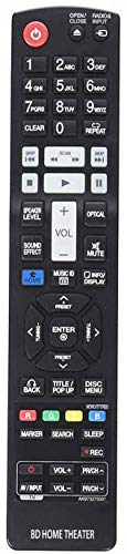 AKB73275501 Remote Replacement for LG Blu-Ray Disc Home Theater HB906TAW HLX55W HX995TZW HB966TZW HLX56S HB906TAW LHB755W LHB335 LHB336 LHB535 LHB536 LHB975 LHB976 LHB336
