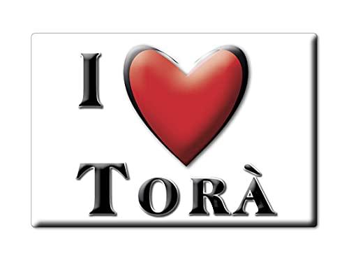 Enjoymagnets TORÀ (L) Souvenir IMANES DE Nevera ESPAÑA CATALUÑA IMAN Fridge Magnet Corazon I Love