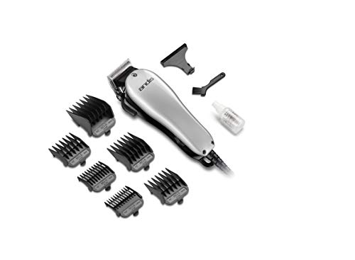 Andis Easy Style Corded Hair Clipper with 7 Attachment Combs, 42mm wide Stainless Steel Blade (Silver)