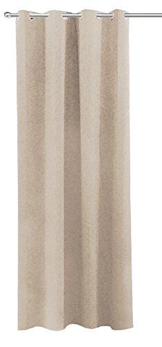 Verduisteringsgordijn, dimbaar, ca. 140x245 cm oogjes gordijn halfdonker ondoorzichtig gordijn gemêleerd kleurkeuze modern 140x245 cm Taupe Hell